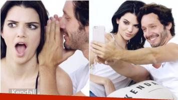 La divertida campaña de Benjamín Vicuña con Kendall Jenner para Chile (Fotos: Captura)