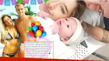 Solange Rivas presentó a Salvador, su primer hijo junto a Nicolás Colazo (Fotos: Web e Instagram)