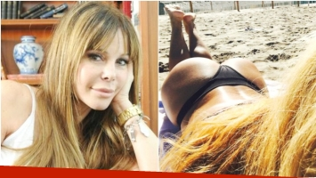 La belfie de Graciela Alfano que sigue de vacaciones en Mar del Plata (Fotos: Web y Twitter)