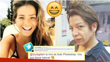 El divertido ida y vuelta de la China Suárez con Lizy Tagliani en Twitter (Fotos: Web y Twitter)