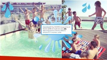 La temporada de verano de los hijos de Wanda Nara y Mauro Icardi (Fotos: Instagram)