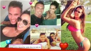 Las románticas vacaciones de Sabrina Ravelli y Bruno Ragone (Fotos: Twitter)