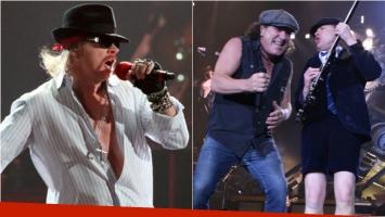 Axl Rose de Gun N' Roses es el nuevo líder de AC/DC. Foto: Web