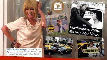 Soledad Silveyra se metió en la guerra entre los taxistas y Uber con una divertida foto. (Foto: Instagram y AP)