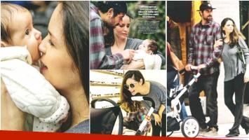 Las tiernas fotos de Romina Richi y su beba Bethânia (Fotos: revista ¡Hola! Argentina)