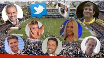 Los famosos vibraron en Twitter con el Superclásico. (Foto: AP y Web)