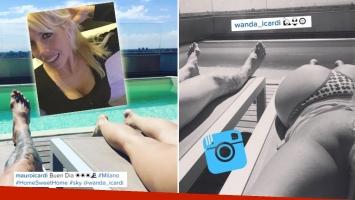 Wanda Nara encendió Instagram con una belfie desde Milán.