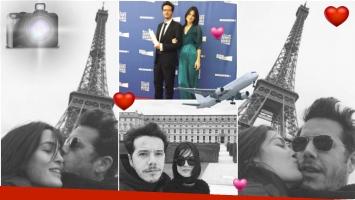 Sebastián Ortega fue premiado en un festival de París y asistió a la gala junto a su novia (Fotos: Instagram)