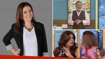 Fernanda Iglesias vuelve al programa de Doman, tras el cachetazo del escándalo. (Fotos: Web)
