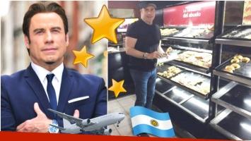 John Travolta está en Argentina (Fotos: Web y Twitter)