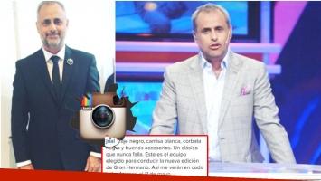 El look de Jorge Rial para la gala de Gran Hermano 2016 (Foto: Instagram y Web)