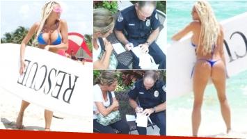 Vicky Xipolitakis, envuelta en un escándalo judicial en Miami (Fotos: Twitter y Verónica Stefani)
