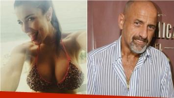 Andrea Rincón y Gustavo Sofovich, fin de su breve romance y escándalo en Aeroparque. Foto: Web