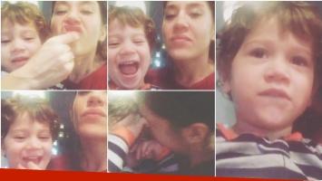 El divertido video del hijo de Jimena Barón intentando silbar (Fotos: Instagram)