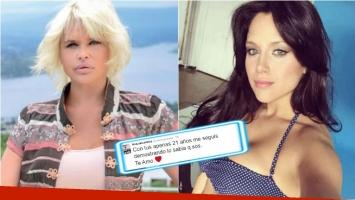 El apoyo de Nazarena Vélez a la renuncia de Barbie Vélez al Bailando. Foto: Web