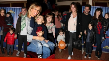 Famosos con sus hijos en un finde familiar. (Foto: Movilpress)