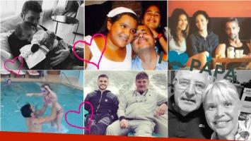 Los famosos festejaron el Día del padre. Foto: Twitter/ Instagram