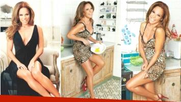 La producción sexy de Iliana Calabró (Fotos: revista Gente)