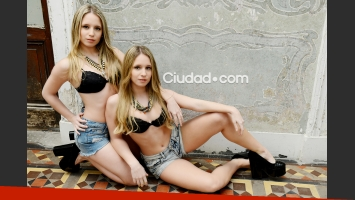 Las gemelas Pozzi, súper sexies para Ciudad.com. Fotos: Musepic.