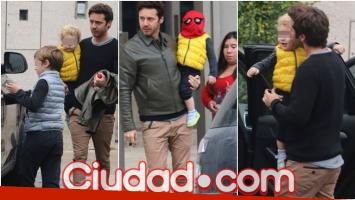 Benjamín Vicuña fue a buscar a sus hijos a la casa de Pampita (Fotos: Movilpress)