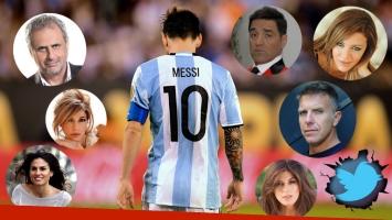 La reacción de los famosos tras la sorpresiva renuncia de Messi a la Selección Argentina. (Foto: AFP)