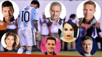 El dolor de los famosos tras la derrota de Argentina en la final de la Copa América Centenario. (Foto: AFP)