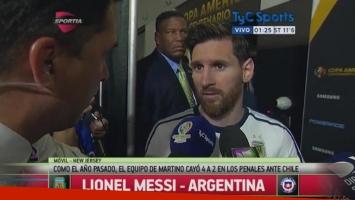 En nota con Martín Arévalo de TyC Sports, Messi anunció su renuncia a la Selección Argentina.