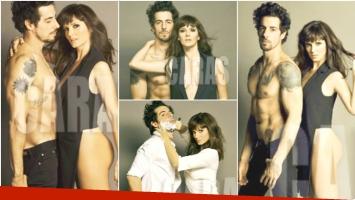 La sexy producción de fotos de Griselda Siciliani y Esteban Lamothe (Fotos: revista Caras)