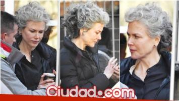El cambio de look de Nicole Kidman para su nuevo personaje en una película (Fotos: Grosby Group)
