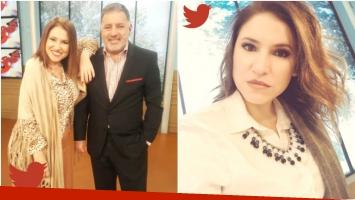 El tweet de Fernanda Iglesias sobre sus deseos de irse de Nosotros a la mañana (Fotos: Twitter)