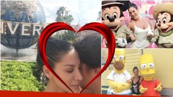 Las vacaciones románticas de Silvina Escudero con su novio en Walt Disney World (Fotos: Twitter e Instagram)