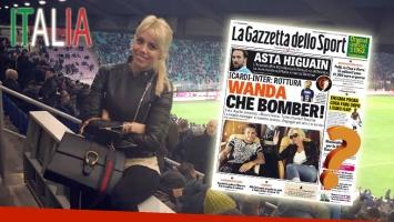 Wanda Nara en la tapa de un importante diario italiano. (Foto: Web)