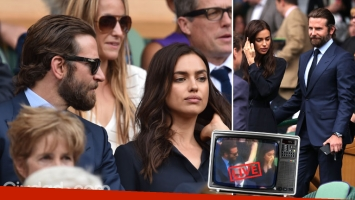 Bradley Cooper e Irina Shayk: cortocircuito en vivo durante la transmisión de la final de Wimbledon. (Foto: AFP)