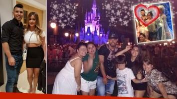 El Kun Agüero y La Princesita, en Disney. (Foto: Instagram)