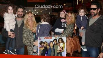 Luciano Castro y Sabrina Rojas disfrutaron del show de Topa con sus hijos. Foto: Movilpress