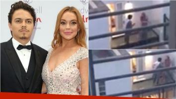 Escandalosa pelea de Lindsay Lohan y su novio. Foto: Web