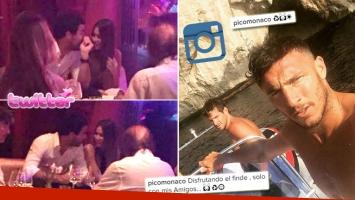 Pampita y Nacho Viale, cena íntima en Ibiza... y mensaje de Pico Mónaco. (Foto: Twitter e Instagram)
