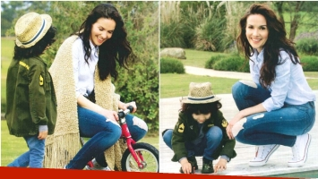 La particular técnica de Natalia Oreiro para no extrañar a su hijo cuando viaje al exterior sin él (Fotos: revista ¡Hola! Argentina)