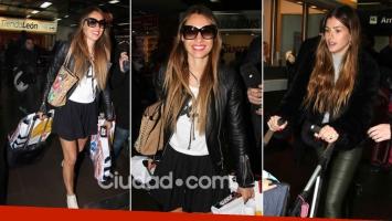 Pampita regresó a la Argentina ¡y vivió una perlita en el aeropuerto con China Suárez! (Foto: Movilpress)