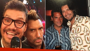 La divertida foto retro de Tinelli con el Tirri. (Foto: Twitter)
