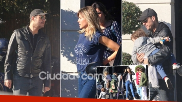 Tinelli y Guillermina, almuerzo multitudinario con sus hijos en la Costanera. (Foto: Movilpress)