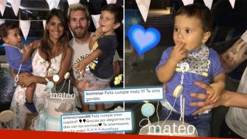 ¡Felicidades! Leo Messi y Antonella Roccuzzo celebraron el primer año de Mateo. (Foto: Instagram)