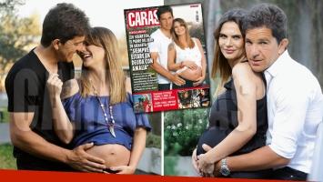 Leo Squarzon y Granata, sonrientes. (Foto: revista Caras)