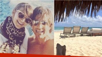 Amalia Granata, de vacaciones con su pareja en Cancún. Foto: Instagram