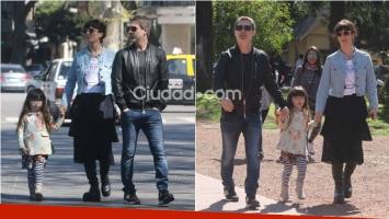 Adrián Suar y Griselda Siciliani: domingo de paseo junto a Magarita tras su separación. Foto: Movilpress