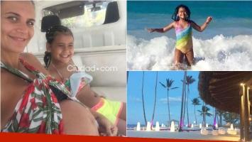 Amalia Granata y una postal feliz junto a hija en Cancún. Foto: Ciudad.com/ Instagram