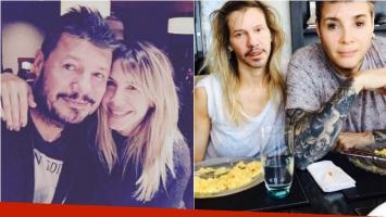 Marcelo Tinelli y Guillermina Valdés jugaron a cambiar sus caras con la app furor. Foto: Instagram
