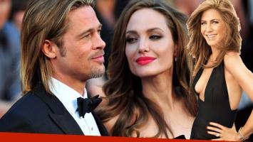 Brad Pitt y Angelina Jolie, en proceso de divorcio. Jennifer Aniston, felizmente casada con Justin Theroux. Las vueltas de la vida.
