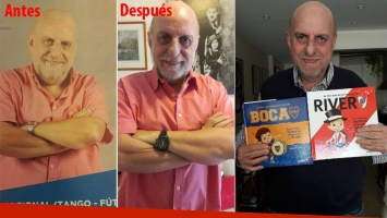 Horacio Pagani adelgazó 14 kilos y lo celebró mostrando una foto del antes y el después. (Fotos: Twitter)