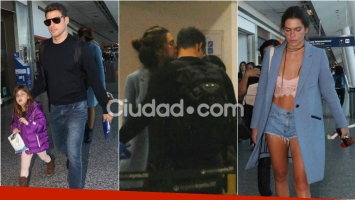 Cauã Reymond viajó a Bariloche con su novia y su hija. Foto: Movilpress